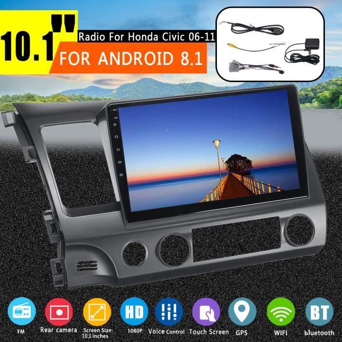TEMPSA Autoradio Android 8.1 10.1pouces HD 1080p bluetooth WIFI GPS MP3 Voice Control double USB 2.0 Pour Honda Civic 2006-2011