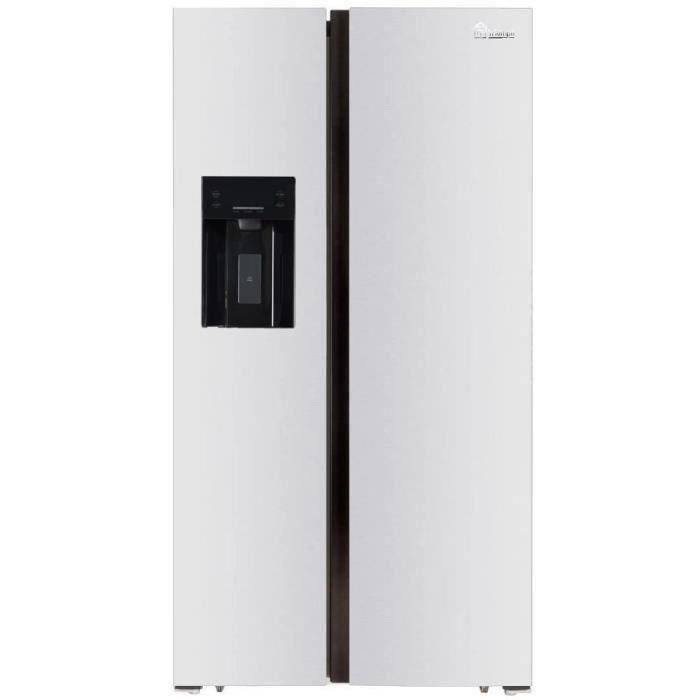 TRIOMPH TSN552NFW - Réfrigérateur Américain - 552 L (383 + 169) - Froid ventilé - A+ - L 91.1 x H 178 cm - Blanc