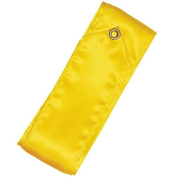 Ruban 4 m bâton plastique jaune