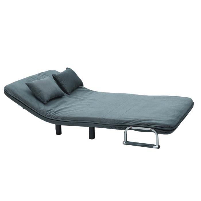 Canape Lit Pliable 2 Places Canape Lit Salon 190 120 26cm Bleu Achat Vente Canape Sofa Divan Cdiscount