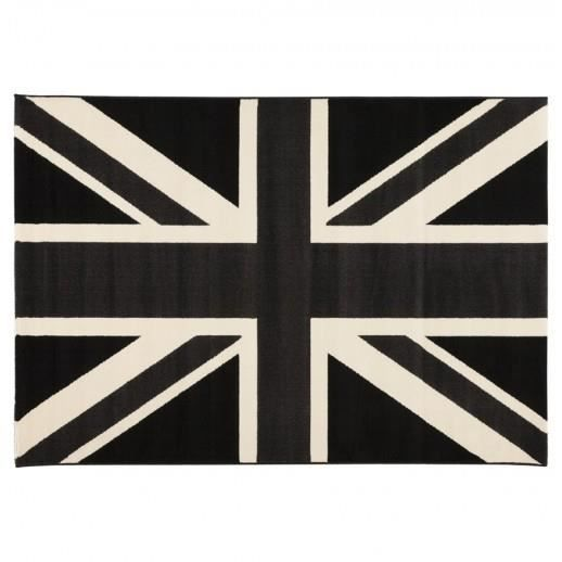 tapis unionblack noir et blanc achat vente tapis. Black Bedroom Furniture Sets. Home Design Ideas
