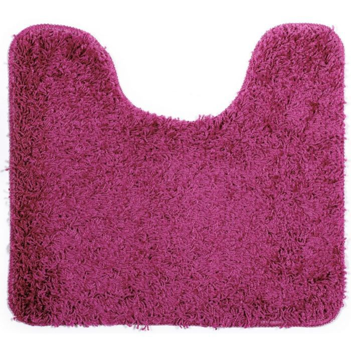 tapis de bain shaggy contour wc rose achat vente tapis. Black Bedroom Furniture Sets. Home Design Ideas