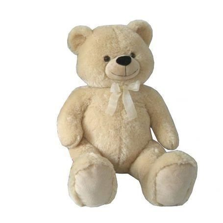 peluche g ante ours beige 100 cm achat vente peluche. Black Bedroom Furniture Sets. Home Design Ideas