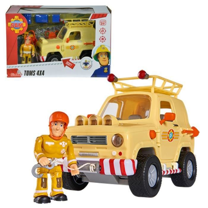 sam le pompier fireman sam suv v hicule avec lumi re et figure sam achat vente voiture. Black Bedroom Furniture Sets. Home Design Ideas