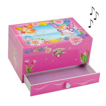 boite bijoux musicale enfant elfes papillon achat. Black Bedroom Furniture Sets. Home Design Ideas