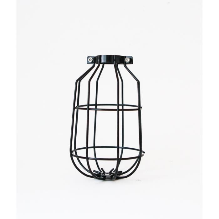 abat jour cage suspendu noir de noir achat vente. Black Bedroom Furniture Sets. Home Design Ideas