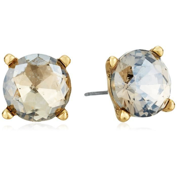 Badgley Mischka Round Champagne Stone Stud Earrings LN5QS BEEtNSH