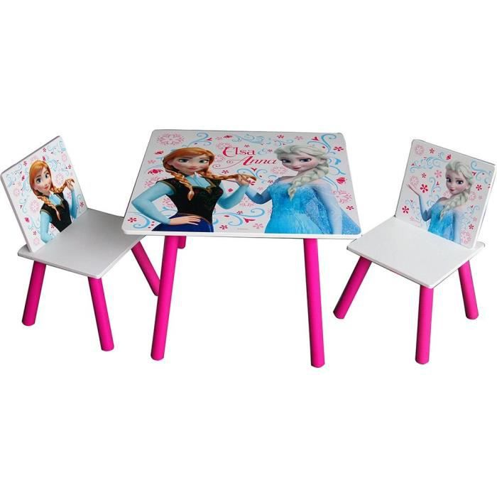 table 2 chaises en bois frozen achat vente table. Black Bedroom Furniture Sets. Home Design Ideas