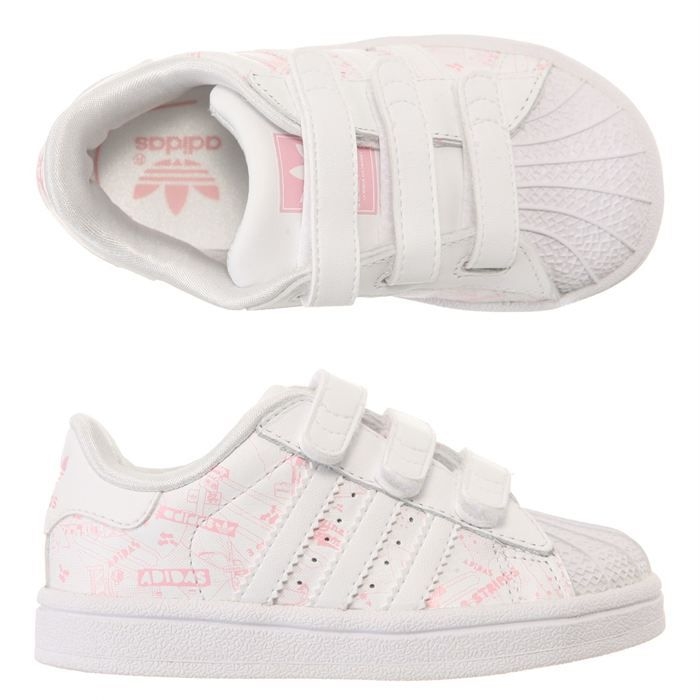 adidas baskets superstar 2 b b blanc et rose achat vente basket cdiscount. Black Bedroom Furniture Sets. Home Design Ideas