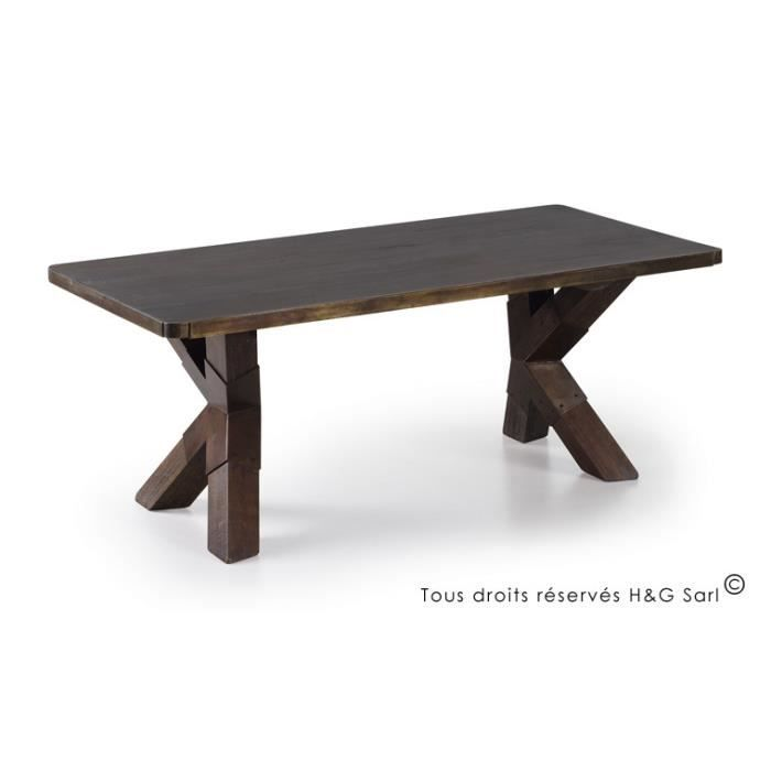 Table basse bois massif design industriel loft achat - Table basse design industriel ...