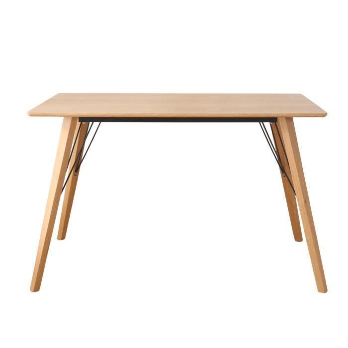 TONNELLE - BARNUM Table de salle à manger en bois 4-6 personnes -Boi