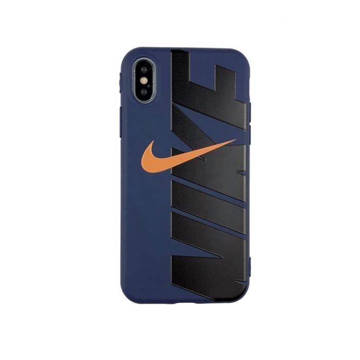 coque iphone x xs nike bleu 1 antichoc premium coq