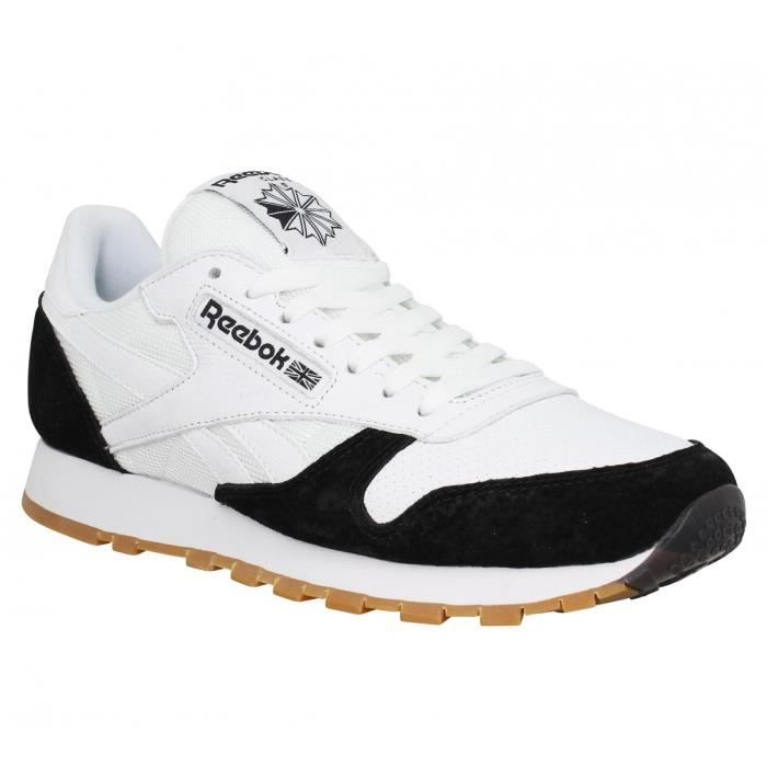 reebok classic leather noir et blanche. Black Bedroom Furniture Sets. Home Design Ideas
