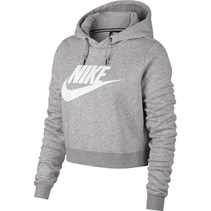 Nike Crop-pull à capuche Swoosh Rassemblement des femmes ...