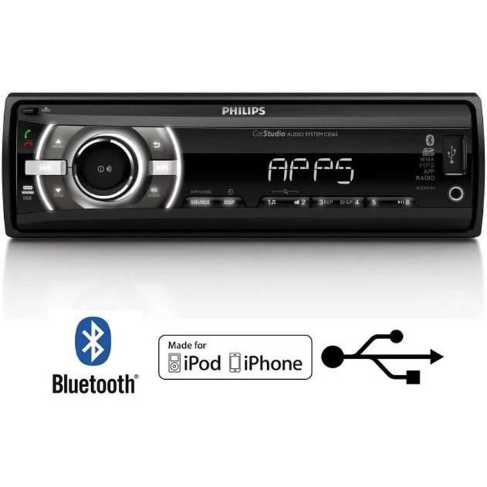 philips ce162 autoradio appscontrol bluetooth achat vente autoradio philips ce162 autoradio. Black Bedroom Furniture Sets. Home Design Ideas