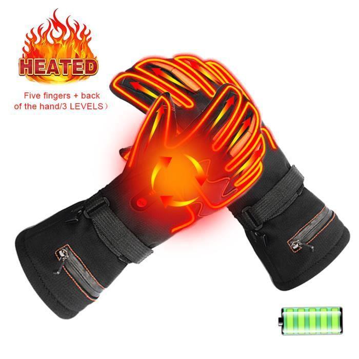 Wangduodu Gant Chauffant USB Moto Gant Chauffant Rechargeables avec /écran Tactile pour Hommes Femmes Ext/érieur Chaud Moto Randonn/ée Chasse Ski V/élo Hiver Gant Chauffant /électriques