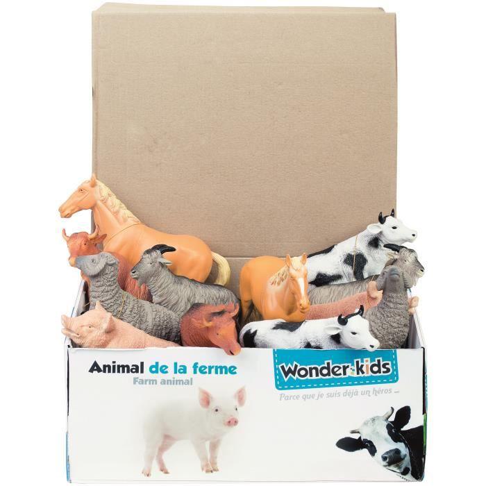 Modèle animal réaliste de la ferme Figurine enfants Nature Science Toy Toy