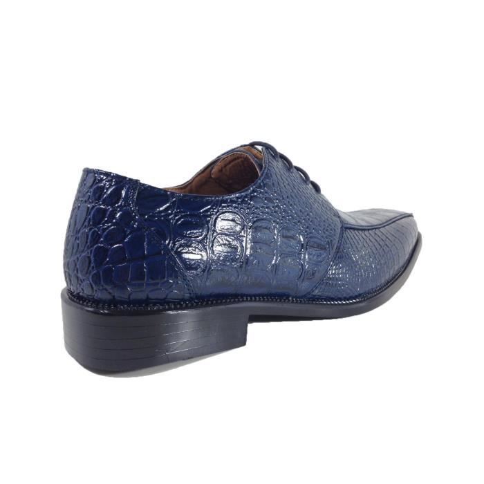 Gator Alligator Crocodile Print Oxfords Loafers Fashion Slip On Dress Shoes MDCG7 Taille-41