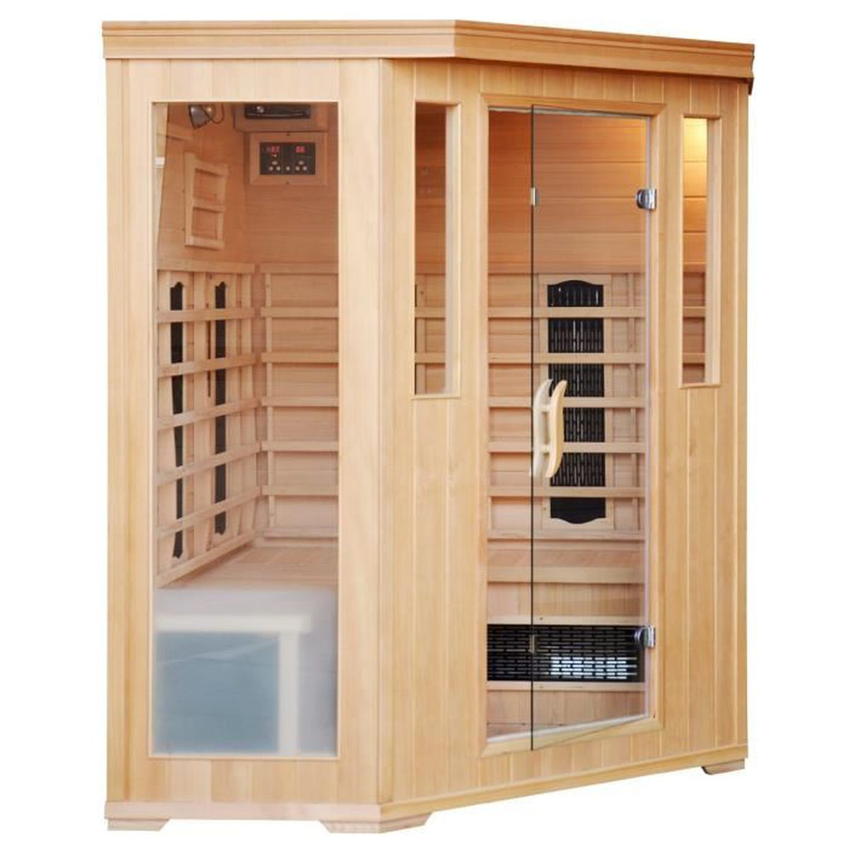 Cabine Salle De Bain Complete brevik cabine sauna luxe infrarouge 3/4 places - achat