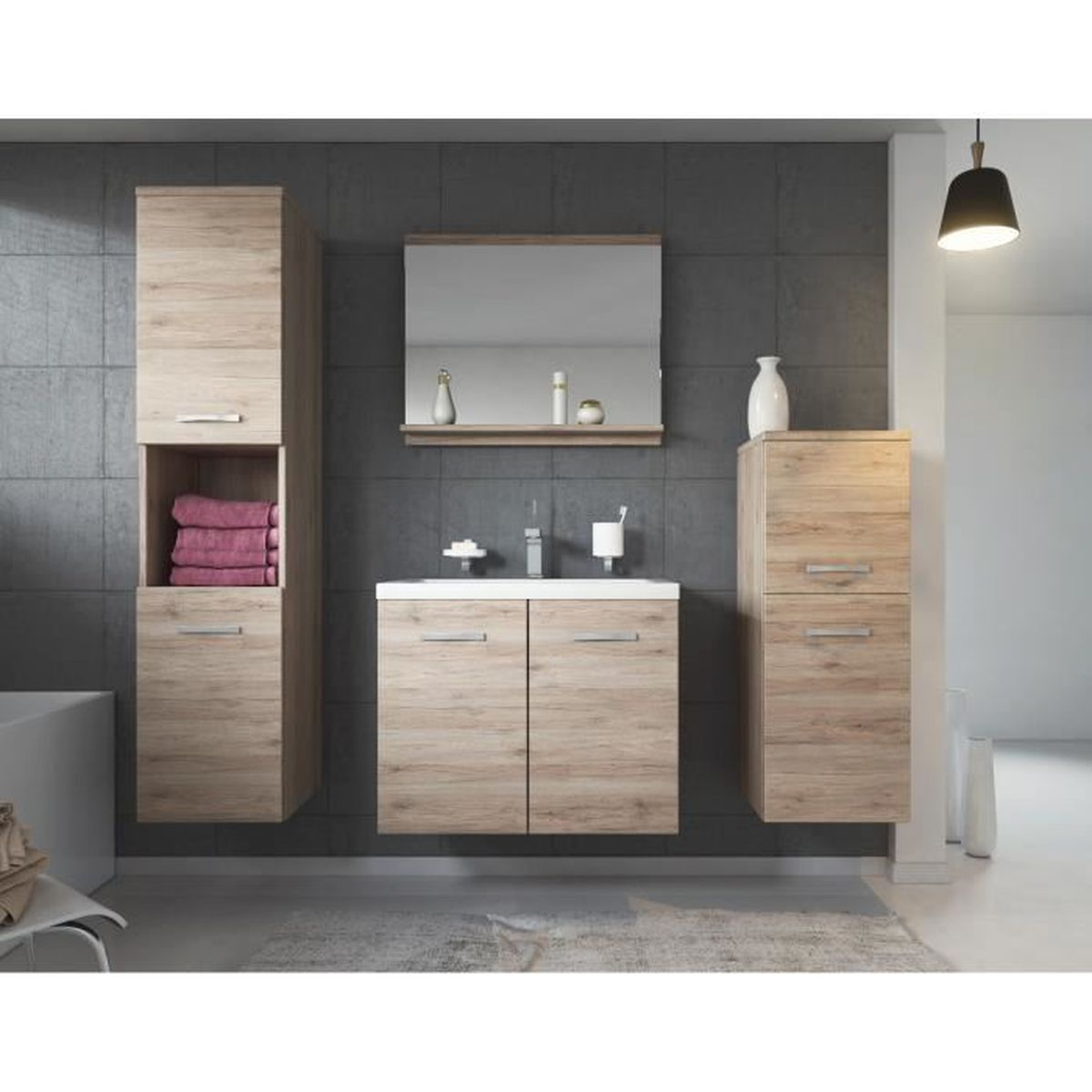 meuble de salle de bain de malo 60x35cm bassin san remo. Black Bedroom Furniture Sets. Home Design Ideas