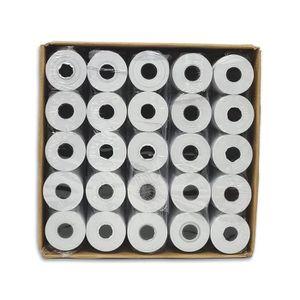 BOBINE DE PAPIER 50 rouleaux bobines papier thermique 57 x 40 x 12