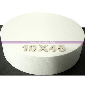 Support à décorer Disque épaisseur 10 cm, diamètre 45 cm, polystyrèn