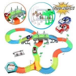 108 Pcs Souple variable Track Set Enfants Voiture Racing Course Jeu