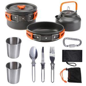 TRESPASS réchauffage camping pot ensemble comprend Poêle avec couvercle et pot