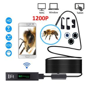 Festnight WiFi cam/éra Endoscope HD 1200P Mini c/âble Souple /étanche 8mm 8 LED USB cam/éra Endoscope Endoscope pour Android PC iOS Endoscope