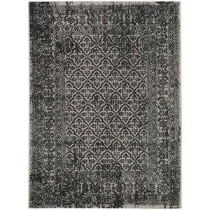 TAPIS DE BAIN  Tapis poil ras Antique Noir & Blanc 160x230 cm - T