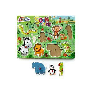 PUZZLE Puzzle A Encastrer Musical En Bois 8 pieces - Les