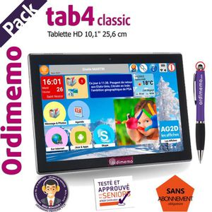 TABLETTE TACTILE TABLETTE SENIOR ORDIMEMO TAB4 2/32 10,1