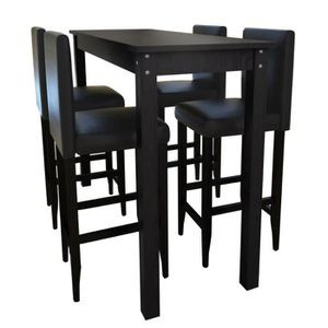 TABOURET DE BAR Set de 1 table de bar et 4 tabourets Ensemble de T
