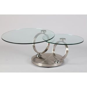 Table 2 basse Table 2 basse plateaux verre plateaux Table verre f6gby7