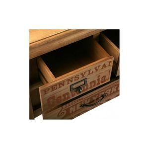 CONSOLE Console bois industrielle 4 tiroirs RIANO
