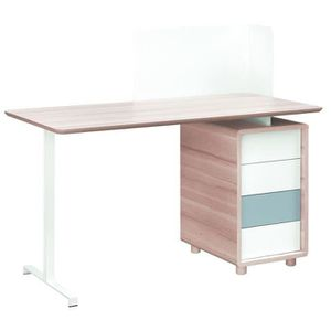 bureau blanc chene achat vente bureau blanc chene pas cher cdiscount. Black Bedroom Furniture Sets. Home Design Ideas