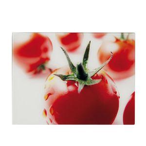 PLANCHE A DÉCOUPER Zeller 26265 Planche à découper motif Tomate Verre