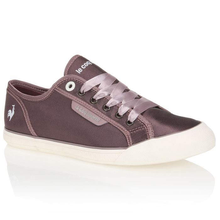 le coq sportif baskets deauville femme femme mauve achat vente le coq sportif baskets femme. Black Bedroom Furniture Sets. Home Design Ideas
