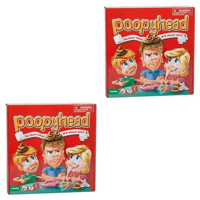 2 Sets Of Poopyhead Card Game - The Game Where Number 2 Always Wins! 1H7NN0