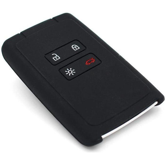 Coque en silicone Finest-Folia - Pour clé de voiture à 4 boutons Noir 1010