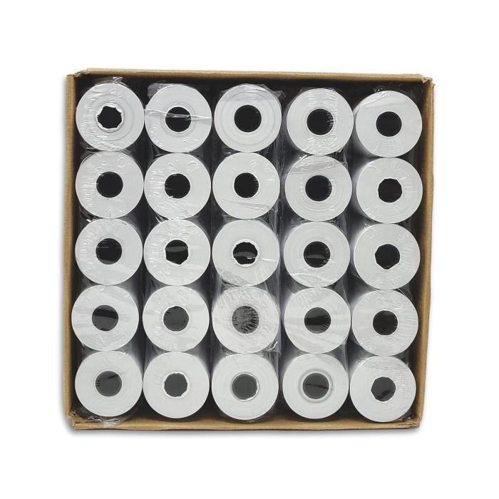 50 rouleaux bobines papier thermique 57 x 40 x 12 carte bancaire