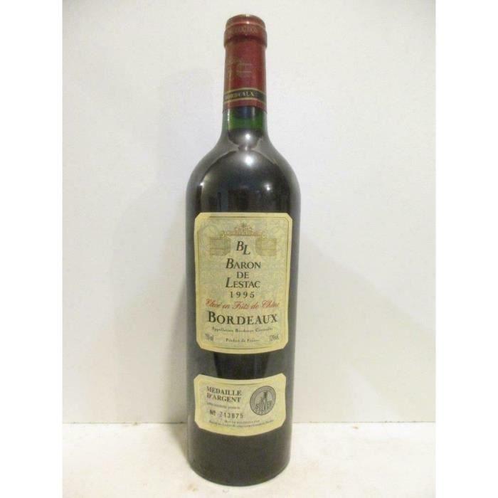 bordeaux baron de lestac fût de chêne rouge 1995 - bordeaux