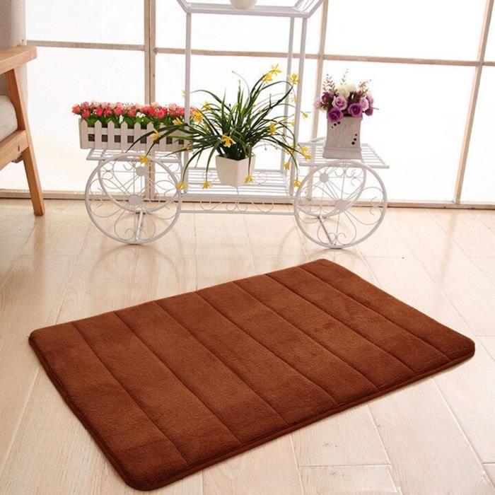 tapis salle de bains Mousse à mémoire 40cm*60cm Marron