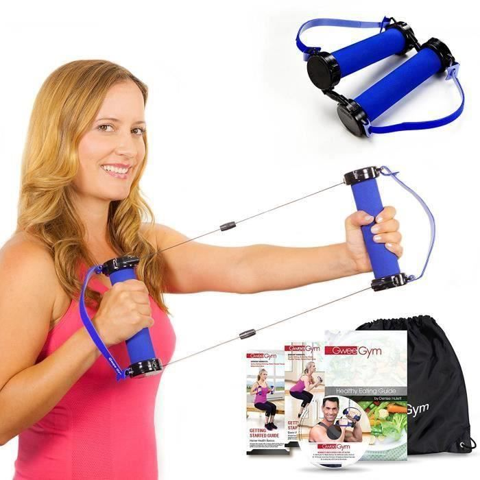 Meilleur exercice de bandes de résistance - Gwee Gym Total Body Workout Kit - Ultimate Cross Trainer pour construire le muscle et pe