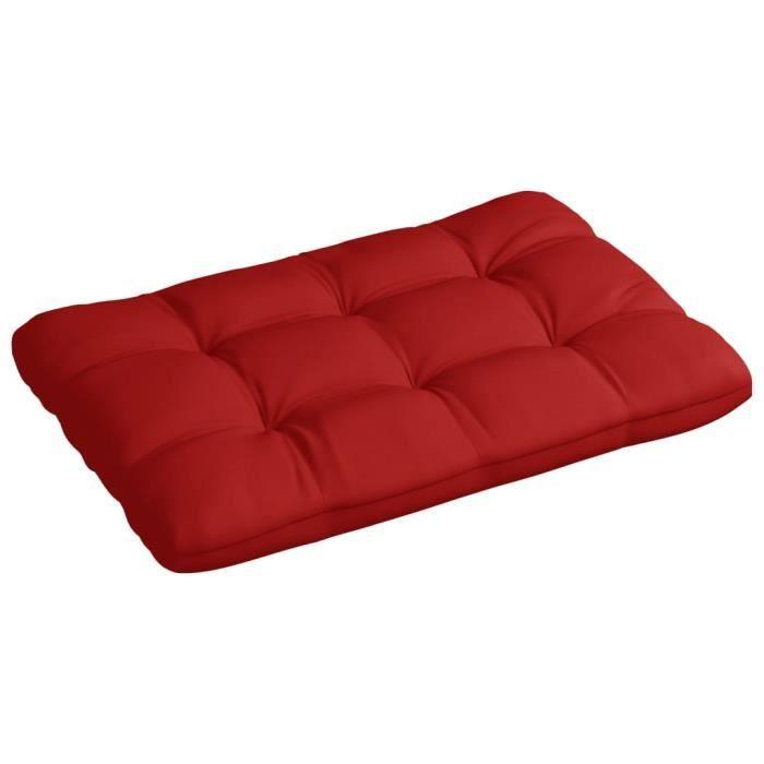 Mode Coussin de canapé palette COUSSIN D'EXTÉRIEUR- Matelas Coussin Pour Fauteuil Chaise Jardin Extérieur Rouge ®UAHMKB®