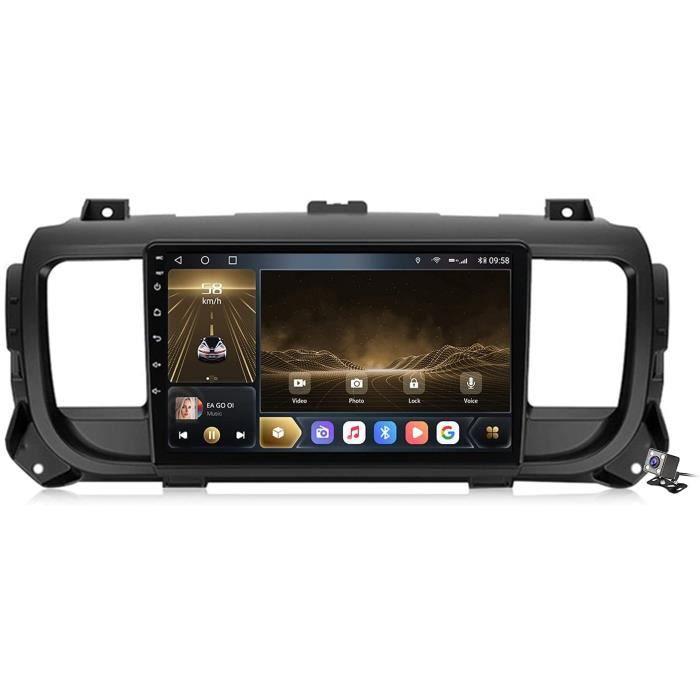 Android 10 9 Pouces Stereo Multimedia GPS Navigation pour Citroen Jumpy 3 SpaceTourer 2016-2021 avec FM RDS Autoradio, Soutient 163
