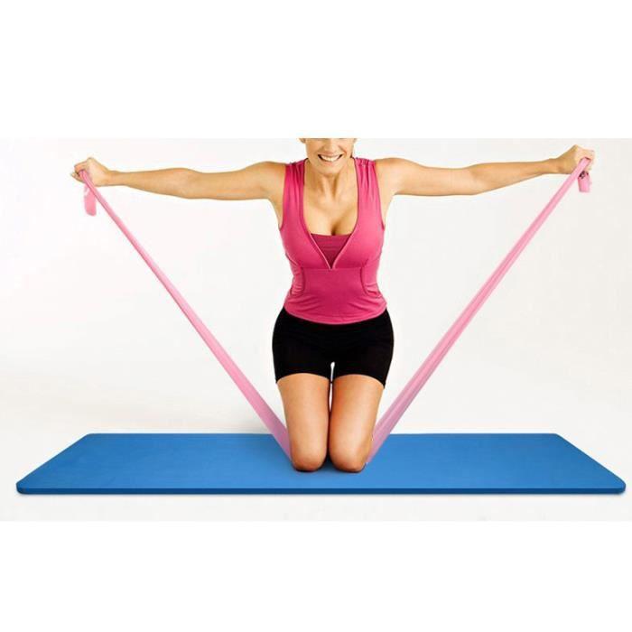 elastiband pilatesband caoutchouc Rose de Resistance Fitness Musculation