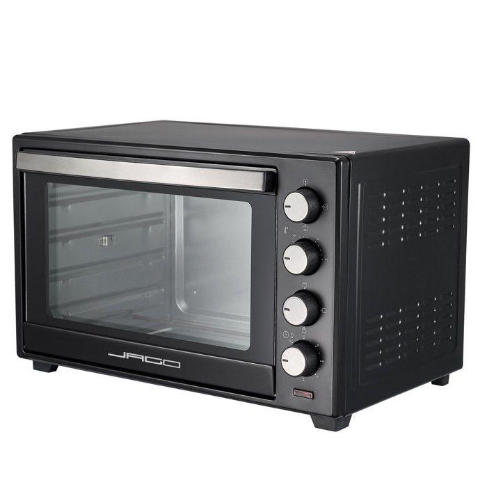 Mini Four - Capacité 60L, 2000 W, Minuteur 0-60 min, 100-230°C, 6 Modes de Cuisson, avec Rôtissoire, Grille et Plaque de Four - Four