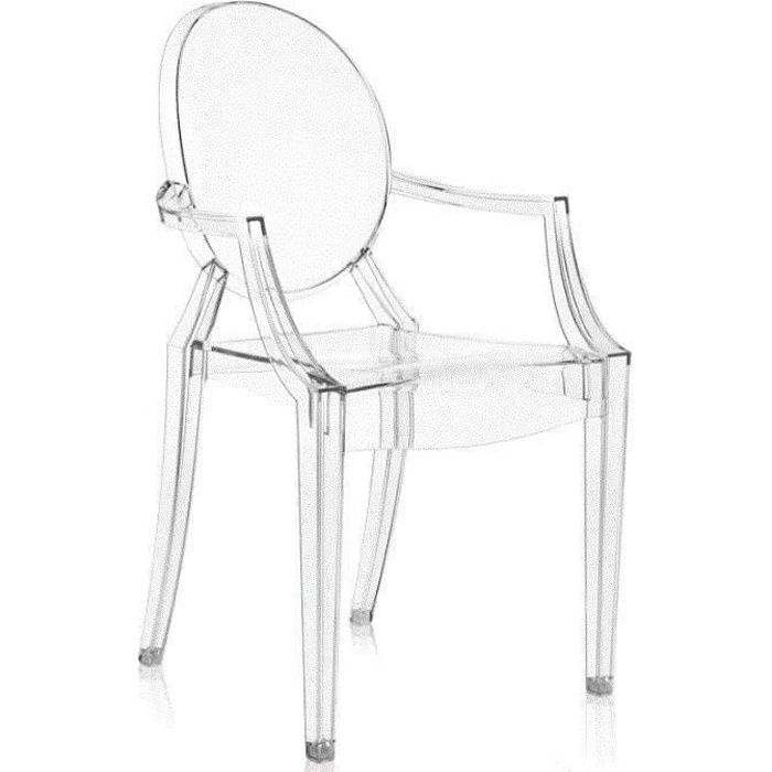 Kartell Chaise Kartell Louis Ghost - Cristal Clair
