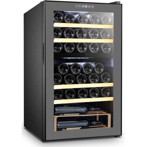 LA SOMMELIÈRE Cave à Vin de Service LSDZ33 - 2 Zones - 33 bouteilles - Commandes tactiles - 4 clayettes en bois